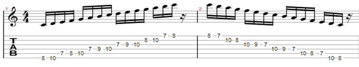 escala de c 6 corda