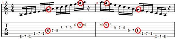 escala menor harmonica
