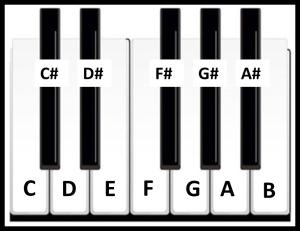 notas teclado