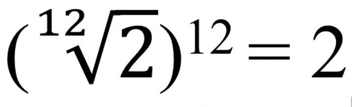 raiz duodecima multiplicada 12 vezes