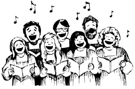 pessoas cantando juntas